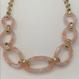 Bright gold Pink acrylic trendy large chain link